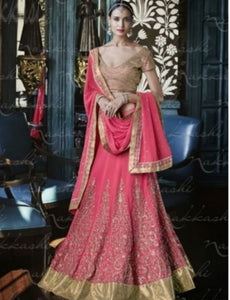 Dainty Nakkashi NAK5054 Bridal Pink Georgette Silk Lehenga Choli by Fashion Nation