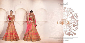 Dressy Nakkashi Bridal NAK5082 Shaded Pink Satin Silk Lehenga Choli - Fashion Nation