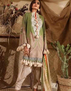 Indo Western SANA5113 Green Lawn Cotton Pakistani Suit by Fashion Nation