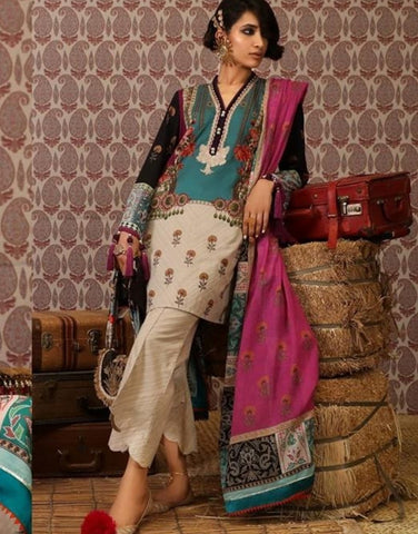 Stylish Indo Western SANA5115 Multicoloured Lawn Cotton Pakistani Suit - Fashion Nation