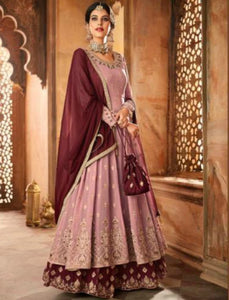 Grand Indo Western GLA59006 Lavender Magenta Georgette Silk Anarkali Suit by Fashion Nation