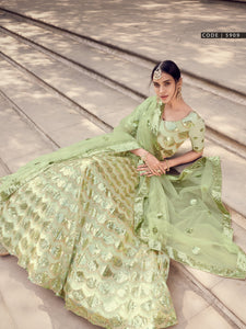 Mehndi Special Designer Party Wear Lehenga Choli for Online Sales by Fashion Nation
