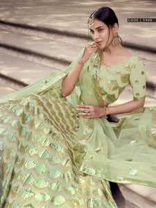 Mehndi Special Designer Party Wear Lehenga Choli at Best Prices by Fashion Nation