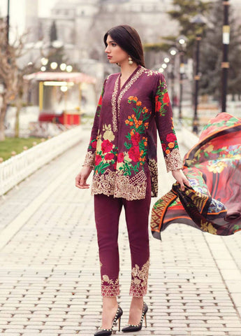 Stylish Casual Wear Indo Western 605 Multicoloured Lawn Cotton Pakistani Suit - Fashion Nation