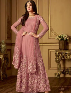 Indo Western MAI6401 Designer Lavender Net Silk Floor Length Anarkali by Fashion Nation