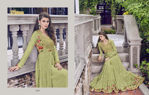 Latest Indo Western Long Gown with Jacket at Cheapest Prices by Fashion Nation