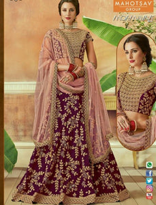 Fabulous MAH7813 Wedding Wear Purple Pink Silk Lehenga Choli - Fashion Nation