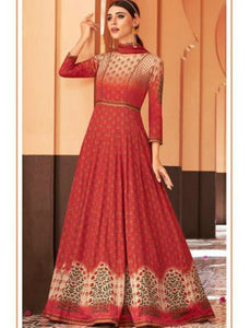 JIN8841 Maroon Pink Anarkali Gown for Online Sales by Fashion Nation