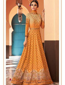 JIN8843 Shaded Orange Anarkali Gown for Online Sales - Fashion Nation