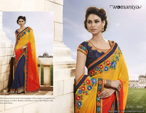 NAK9012 Designer Vikram Phadnis Nakkashi Indian Party Wear Traditional Saree - Fashion Nation