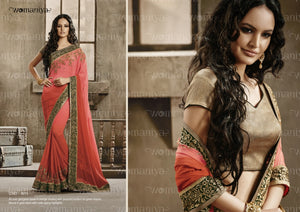NAK9015 Designer Vikram Phadnis Nakkashi Indian Party Wear Traditional Saree - Fashion Nation