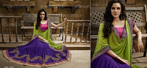 NAK9018 Designer Vikram Phadnis Nakkashi Indian Party Wear Traditional Saree - Fashion Nation