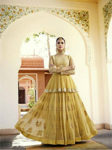 Designer Indo Western LF11002 Georgette Silk Chiffon Anarkali Lehenga by Fashion Nation