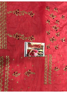 Kajol KF3666 Bollywood Inspired Red Georgette Silk Saree - Fashion Nation