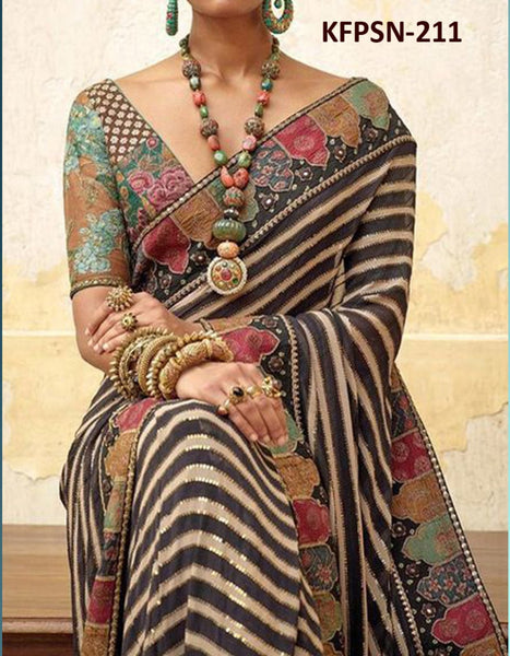 Celebrity Wear KF3860 Bollywood Inspired Multicoloured Silk Saree - Fashion Nation