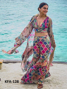Bollywood Inspired Celebrity Fashion Taapsee Pannu Sharara Suit - Fashion Nation