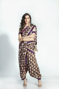 Stylish MIS01 Trendywear Purple Handloom Silk Saree