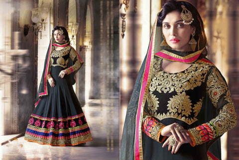 PRK5067 Ethnic Attractive Georgette Anarkali Gown - Fashion Nation.in