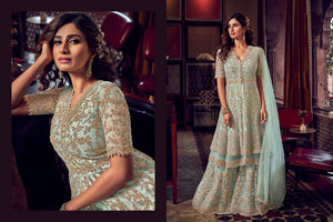 Cocktail Party Fashionable Double Layered Sharara Suit at Cheapest Prices by Fashion Nation