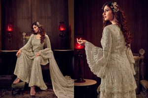 Marriage Party Double Layered Sharara Suit for Online Sales by Fashion Nation