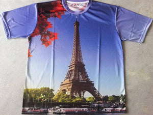 FDTUS2 - Cityscape Paris Full Body T-Shirt - Fashion Nation