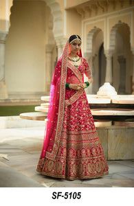 Superb SF5105 Bollywood Inspired Pink Silk Lehenga Choli by Fashion Nation