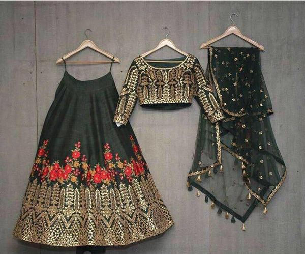 Fabulous SF5171 Bollywood Inspired Black Multicoloured Silk Net Lehenga Choli - Fashion Nation
