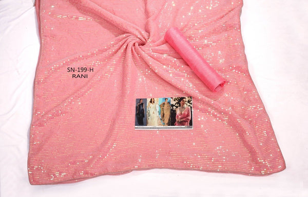 Party Wear KF3840 Bollywood Inspired Pink Silk Georgette Saree - Fashion Nation