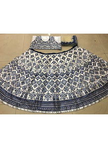 KF3598 Alia Bhatt Bollywood Inspired Black White Silk Net Lehenga Choli - Fashion Nation
