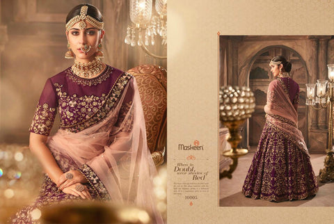Wedding Wear MAI10005 Designer Purple Pink Silk Net Lehenga Choli by Fashion Nation