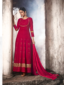Evening Party Wear Lucknowi Floor Length Suit at Cheapest Prices by Fashion Nation