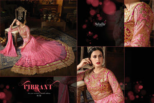 Ethnic SY72 Partywear Pink Net Silk Anarkali Gown - Fashion Nation