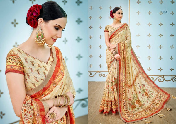 Enthralling SS1606 Enchanting Multicoloured Benarasi Silk Saree