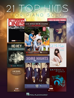 21 Top Hits for Piano Solo 9781480361041