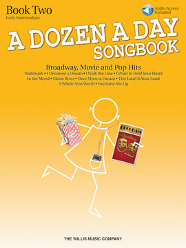 A Dozen A Day Songbook Book Two Audio Download Moon River ABRSM Grade 3