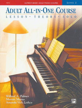 Adult All-In-One Piano Course Level 2 Music Tutor Book + CD