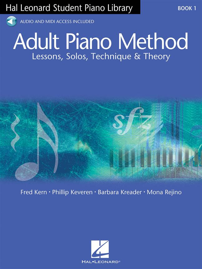 Adult Piano Method Book 1 Lessons Solos Techniques Theory Book + Audio Online