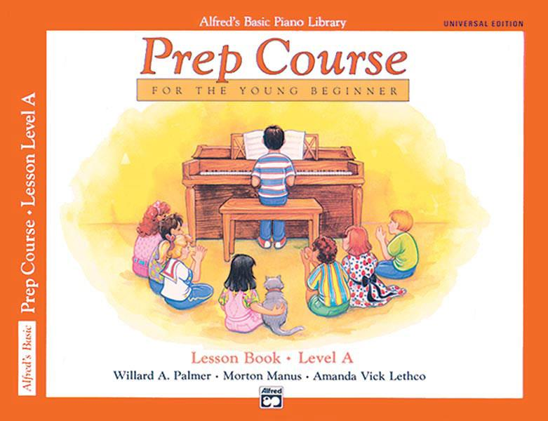 Alfred's Basic Piano Library Prep Course Young Beginner Lesson Book Level A 6493