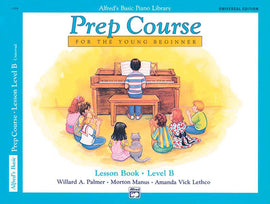 Alfred's Basic Piano Library Prep Course Young Beginner Lesson Book Level B 6494
