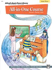 Alfred's All-in-One Course Book 3 Lesson Theory Solo Music Tutor Book 14506