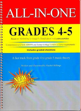 All In One  Grade 4 to 5 Music Theory Rachel Billings AIO4-5