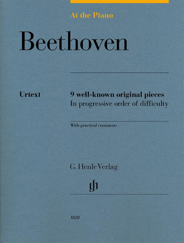 At The Piano Beethoven Henle Urtext 9 well-known original pieces  HN1820