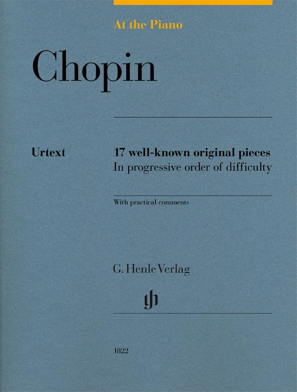 At The Piano Chopin Henle Urtext 17 well-known original pieces  HN1822
