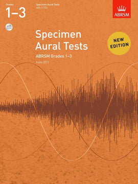 Specimen Aural Tests Grades 1 - 3 ABRSM Book + CD 9781848492561