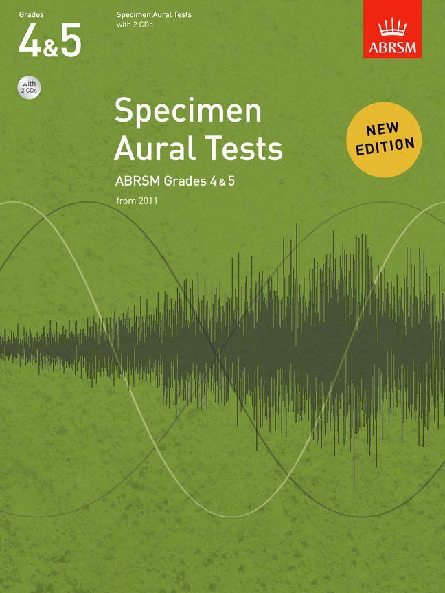 Specimen Aural Tests Grades 4 and 5 ABRSM + CD 9781848492578
