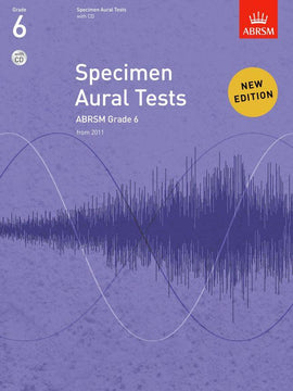 Specimen Aural Tests Grade 6 ABRSM Book + CD 9781848492585