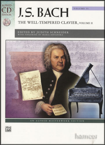 Bach Well-Tempered Clavier Volume 2 Book + CD Alfred Masterwork 41429