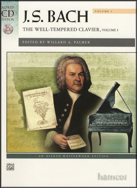 Bach Well Tempered Clavier Volume 1 Book + CD Alfred Masterwork 41426