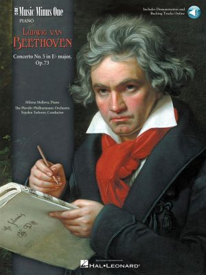 Concerto No. 5 in E-flat Major, Op. 73, Beethoven, Music Minus One, Book + 2CD, 9781596150904