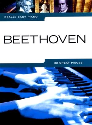Really Easy Piano Beethoven 22 Great Pieces Music Songbook 9781849385558